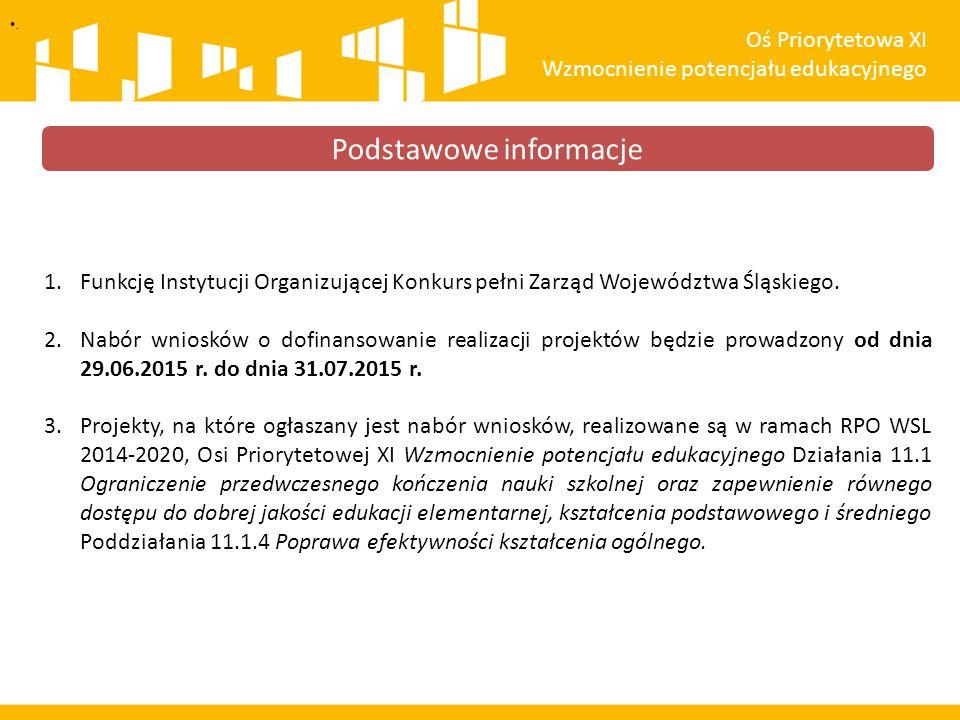 1.Funkcję Instytucji Organizującej Konkurs pełni Zarząd Województwa Śląskiego.