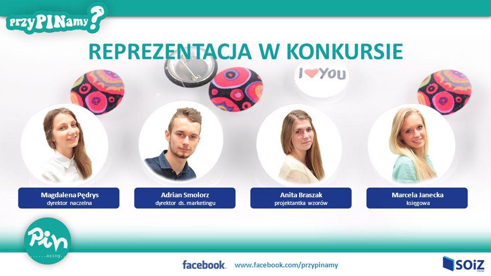 Magdalena Pędrys dyrektor naczelna Anita Braszak projektantka wzorów Marcela Janecka księgowa Adrian Smolorz dyrektor ds.