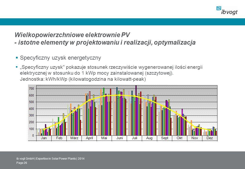 ib vogt GmbH | Expertise in Solar Power Plants | 2014 Page 26 Wielkopowierzchniowe elektrownie PV - istotne elementy w projektowaniu i realizacji, opt
