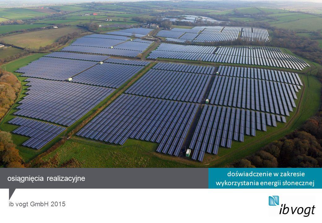 doświadczenie w zakresie wykorzystania energii słonecznej ib vogt GmbH 2015 osiągnięcia realizacyjne