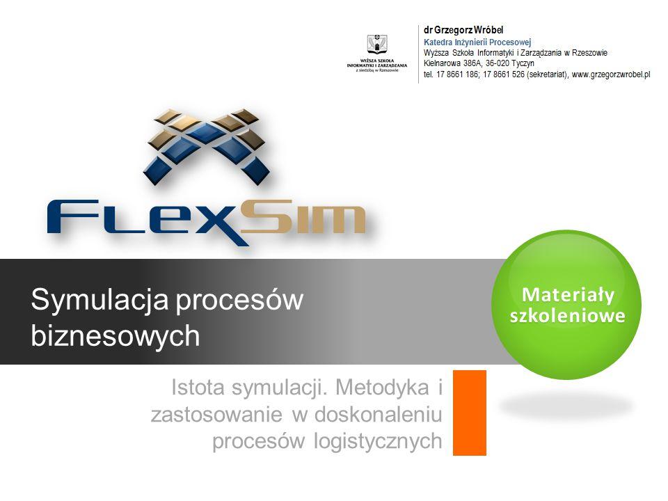 Materiały szkoleniowe Symulacja procesów biznesowych Istota symulacji.