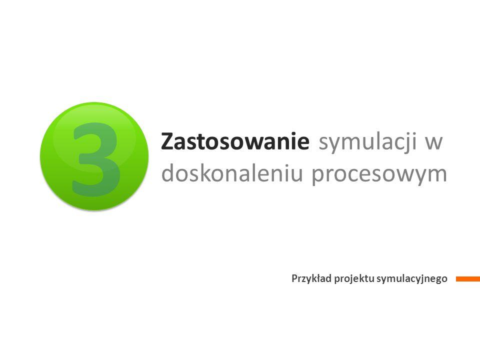Zastosowanie symulacji w doskonaleniu procesowym Przykład projektu symulacyjnego 3