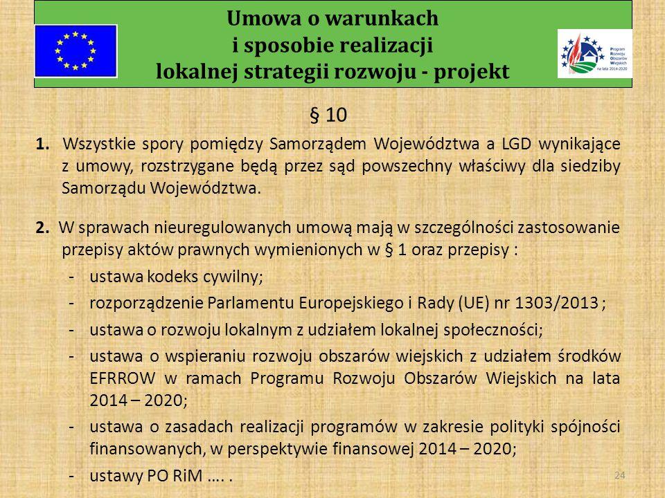 Umowa o warunkach i sposobie realizacji lokalnej strategii rozwoju - projekt 23 § 9 Zobowiązuje strony do zachowania trybu pisemnego we wszelkich sprawach, z podaniem numeru umowy oraz daty podpisania umowy.
