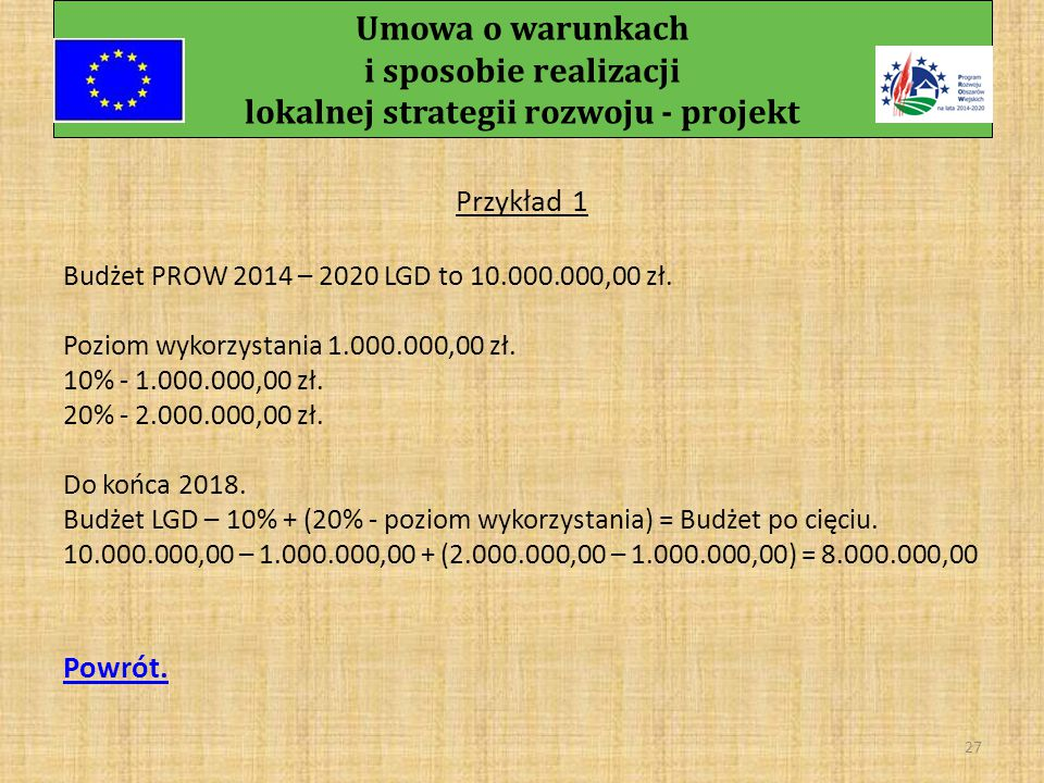 26 Urząd Marszałkowski Województwa Wielkopolskiego Departament Programów Rozwoju Obszarów Wiejskich ul.