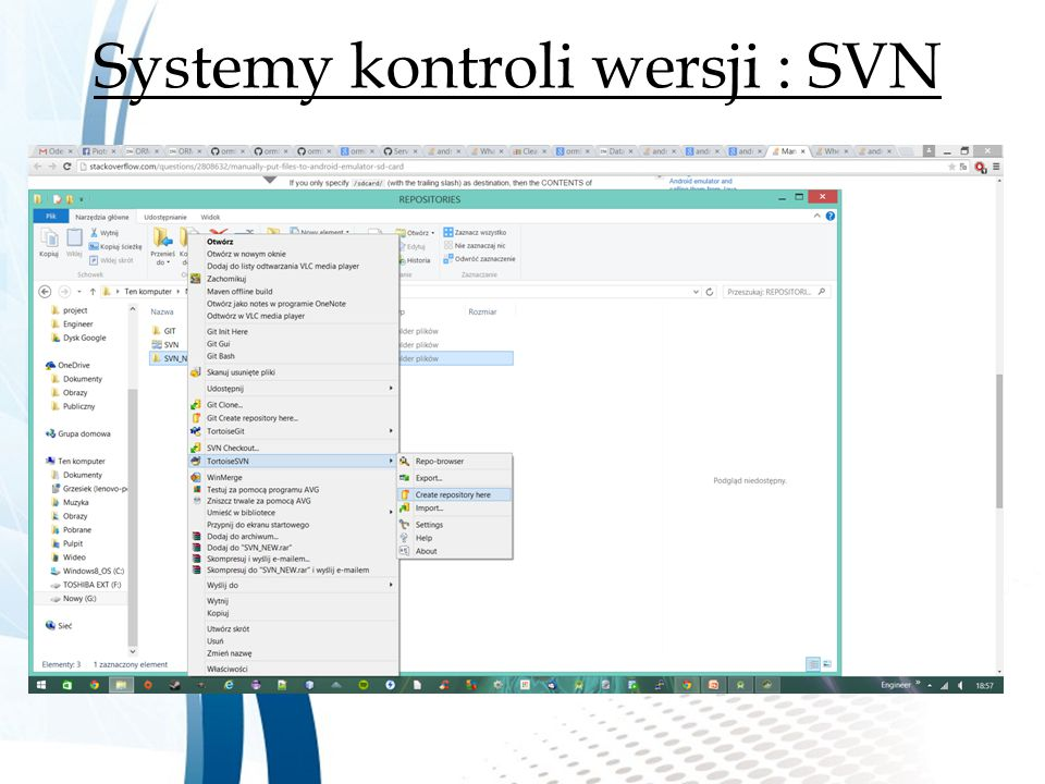 Systemy kontroli wersji : SVN