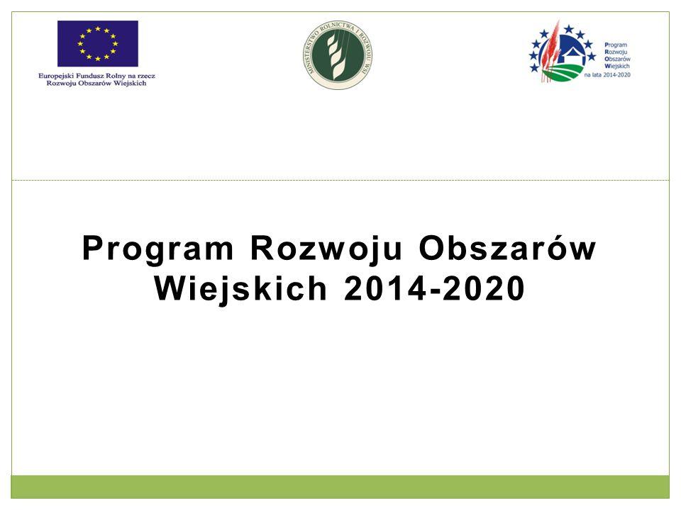 Program Rozwoju Obszarów Wiejskich 2014-2020