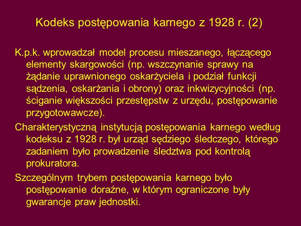 Kodeks postępowania karnego z 1928 r.(2) K.p.k.