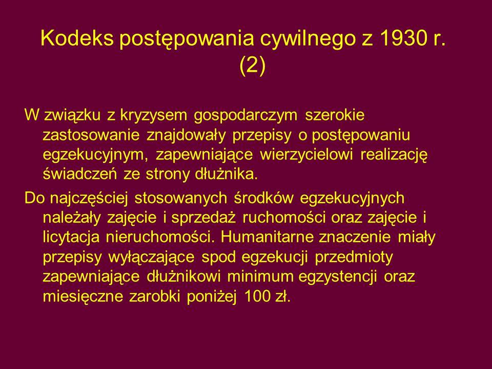 Kodeks postępowania cywilnego z 1930 r.