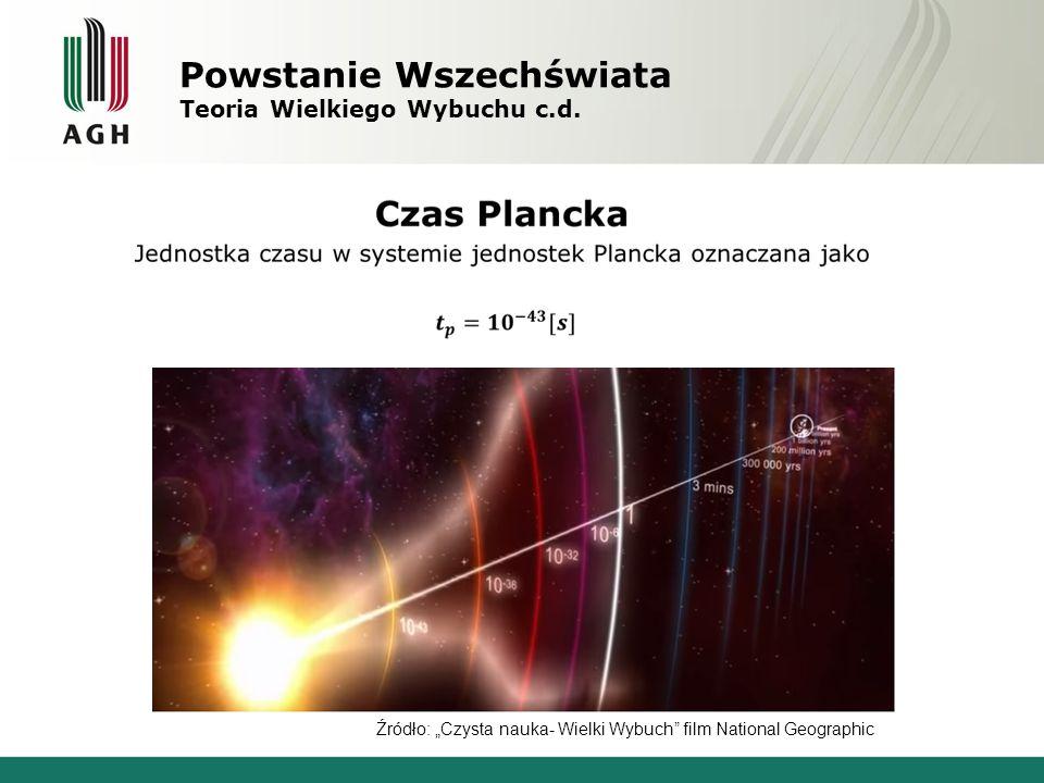 """Powstanie Wszechświata Teoria Wielkiego Wybuchu c.d. Źródło: """"Czysta nauka- Wielki Wybuch"""" film National Geographic"""