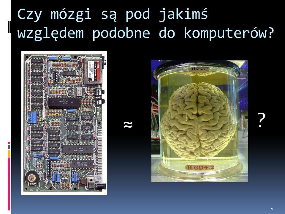 4 Czy mózgi są pod jakimś względem podobne do komputerów? ≈ ?