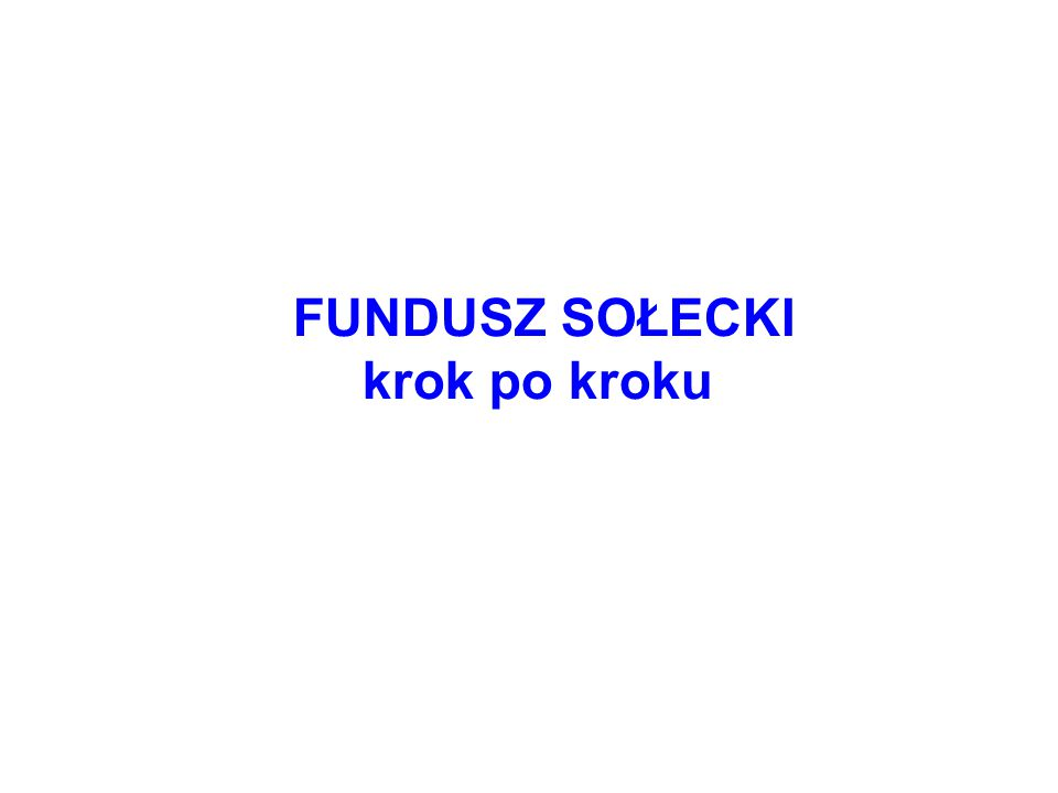 Co to jest fundusz sołecki.
