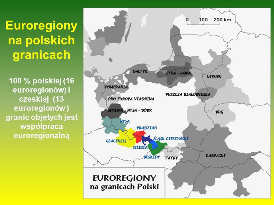 Euroregiony na czeskich granicach