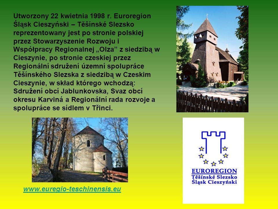 Utworzony 22 kwietnia 1998 r. Euroregion Śląsk Cieszyński – Tĕšínské Slezsko reprezentowany jest po stronie polskiej przez Stowarzyszenie Rozwoju i Ws
