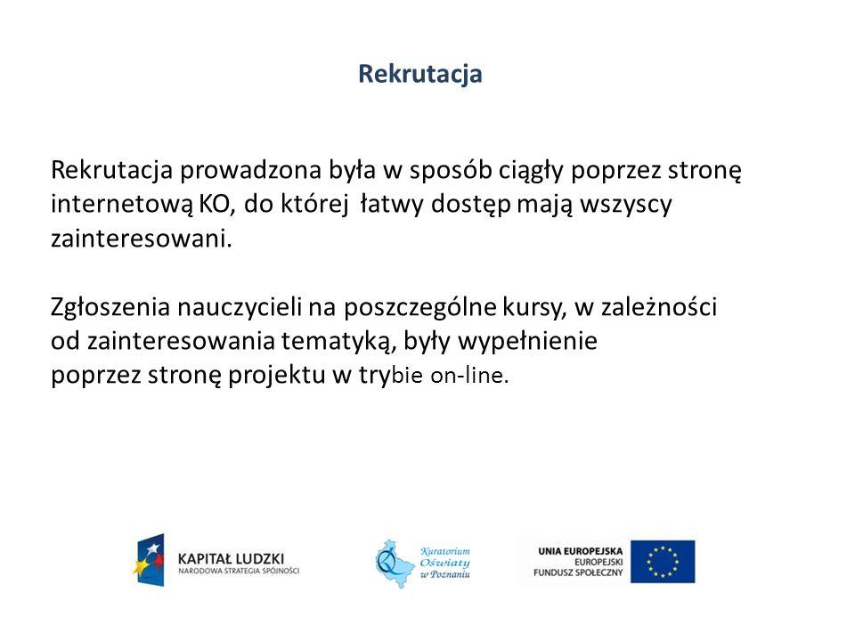 Hanna Rajcic-Mergler Kierownik Projektu Wicekurator Oświaty hanna.mergler@ko.poznan.pl Dziękuję za uwagę Projekt współfinansowany ze środków Unii Europejskiej w ramach Europejskiego Funduszu Społecznego, Program Operacyjny Kapitał Ludzki