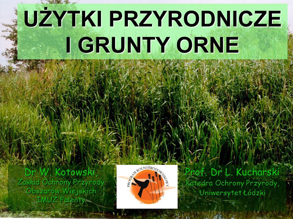 UŻYTKI PRZYRODNICZE Typy biotopów Cenne przyrodniczo fragmenty naturalnych ekosystemów Znaczenie dla rolnictwa Tereny nieprodukcyjne Główne kryteria identyfikacyjne specyficzna struktura i miejsce w krajobrazie