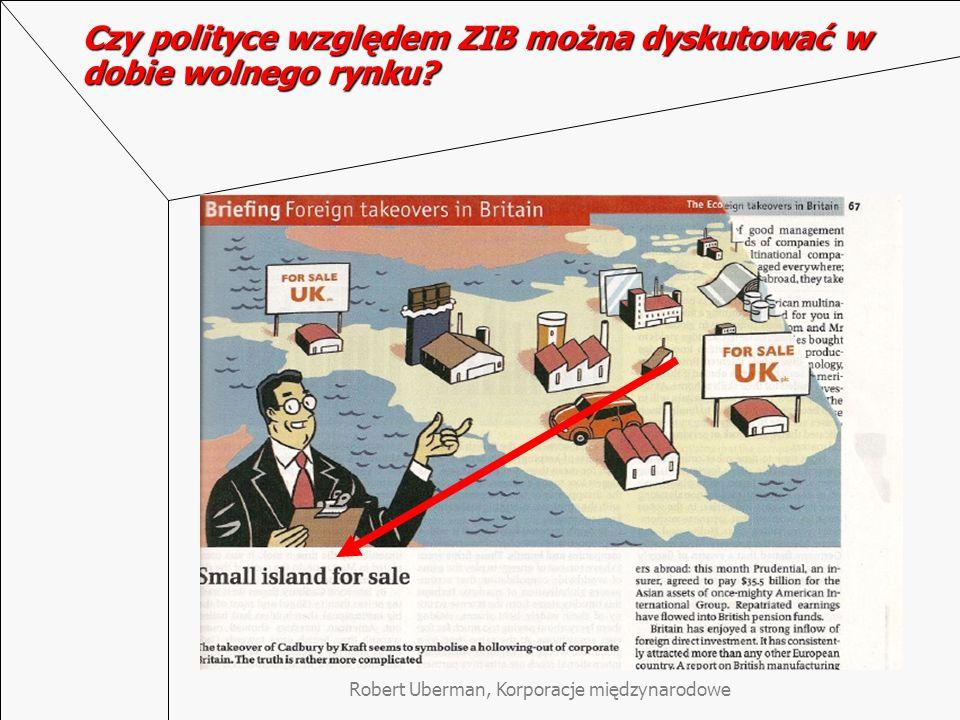Robert Uberman, Korporacje międzynarodowe Czy polityce względem ZIB można dyskutować w dobie wolnego rynku?