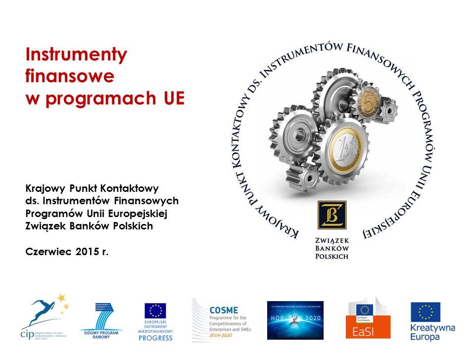 Instrumenty finansowe w programach UE Krajowy Punkt Kontaktowy ds. Instrumentów Finansowych Programów Unii Europejskiej Związek Banków Polskich Czerwi