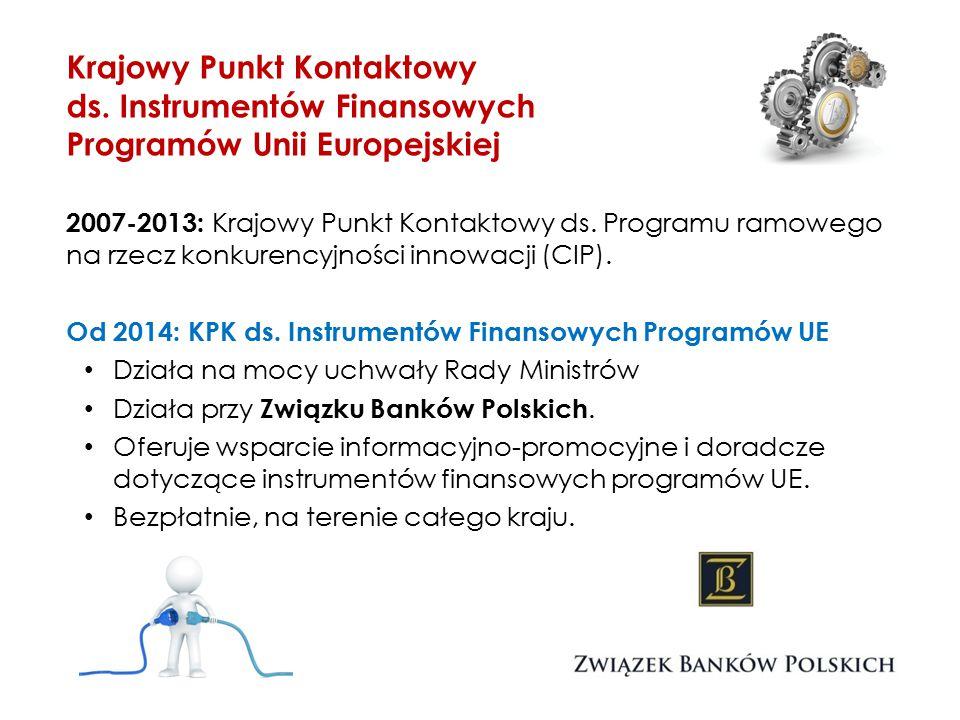Instrumenty finansowe wszystkich programów UE Krajowy Punkt Kontaktowy ds.