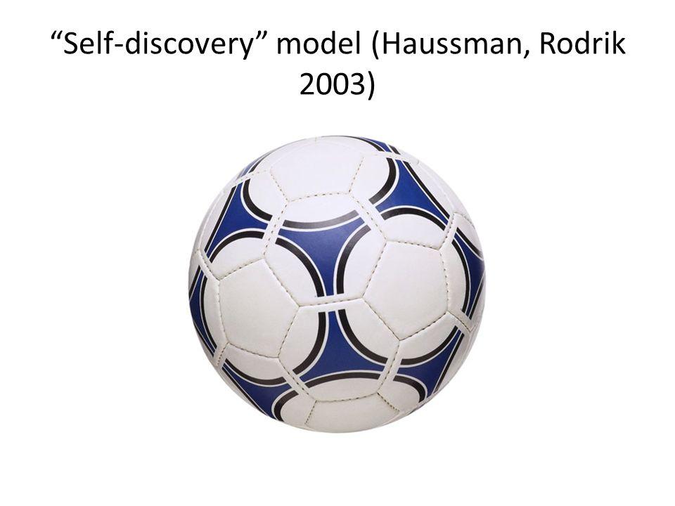 Self-discovery model (Haussman, Rodrik 2003)