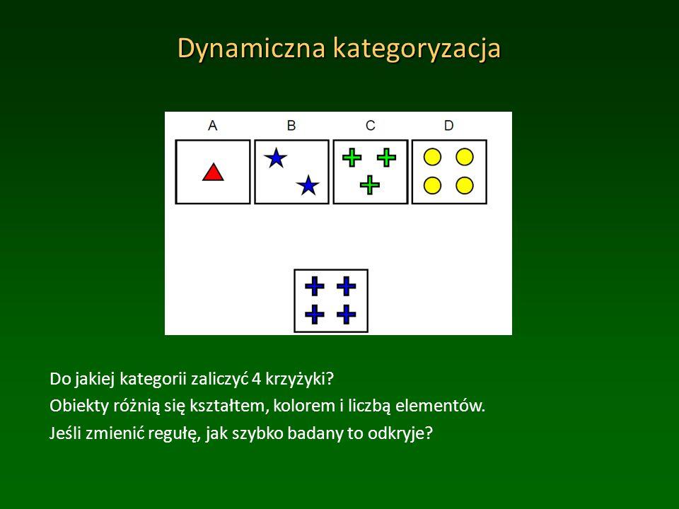Dynamiczna kategoryzacja Do jakiej kategorii zaliczyć 4 krzyżyki.