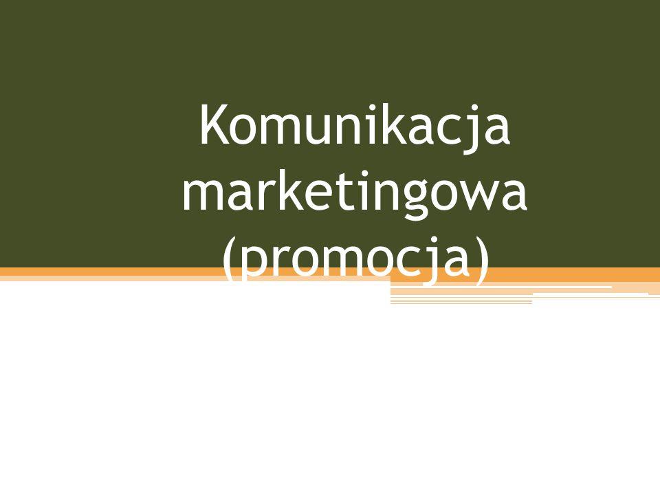 Komunikacja marketingowa (promocja)