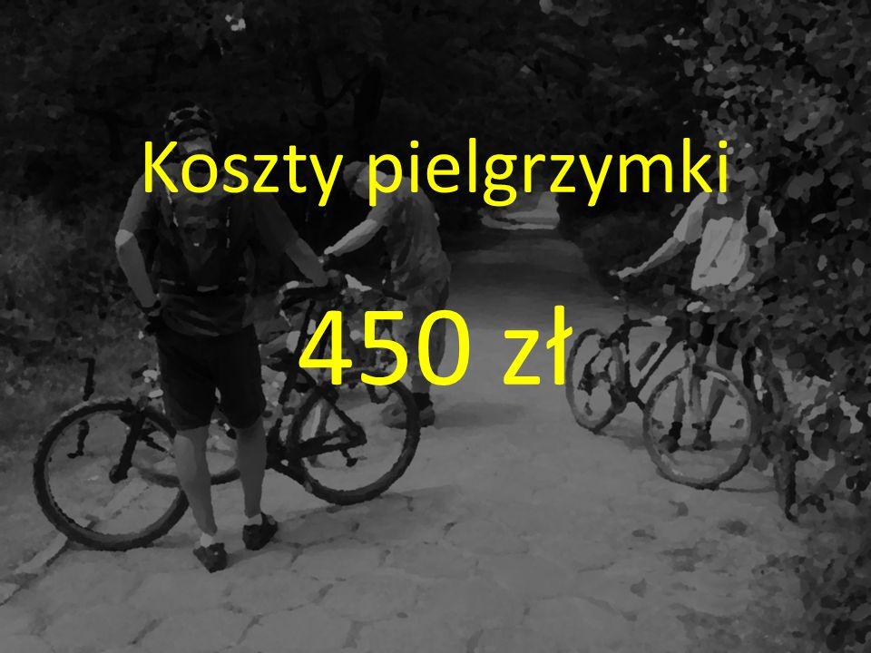 Koszty pielgrzymki 450 zł