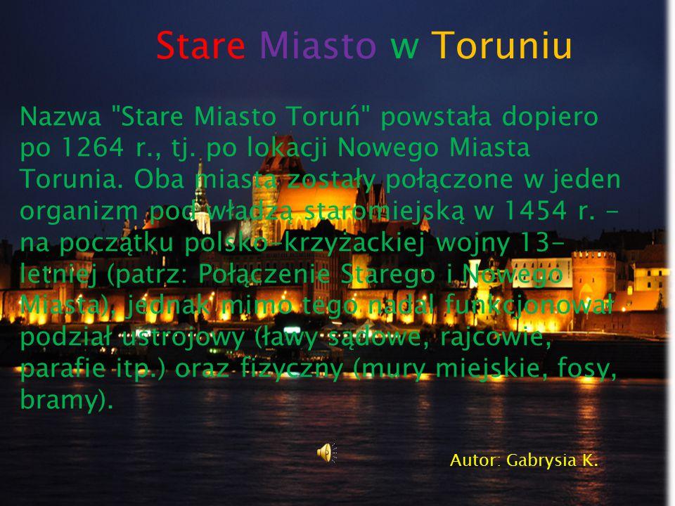 Stare Miasto w Toruniu Nazwa
