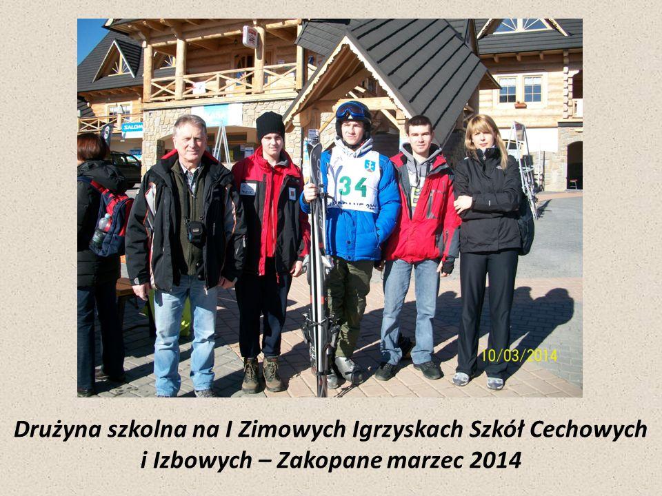 Drużyna szkolna na I Zimowych Igrzyskach Szkół Cechowych i Izbowych – Zakopane marzec 2014