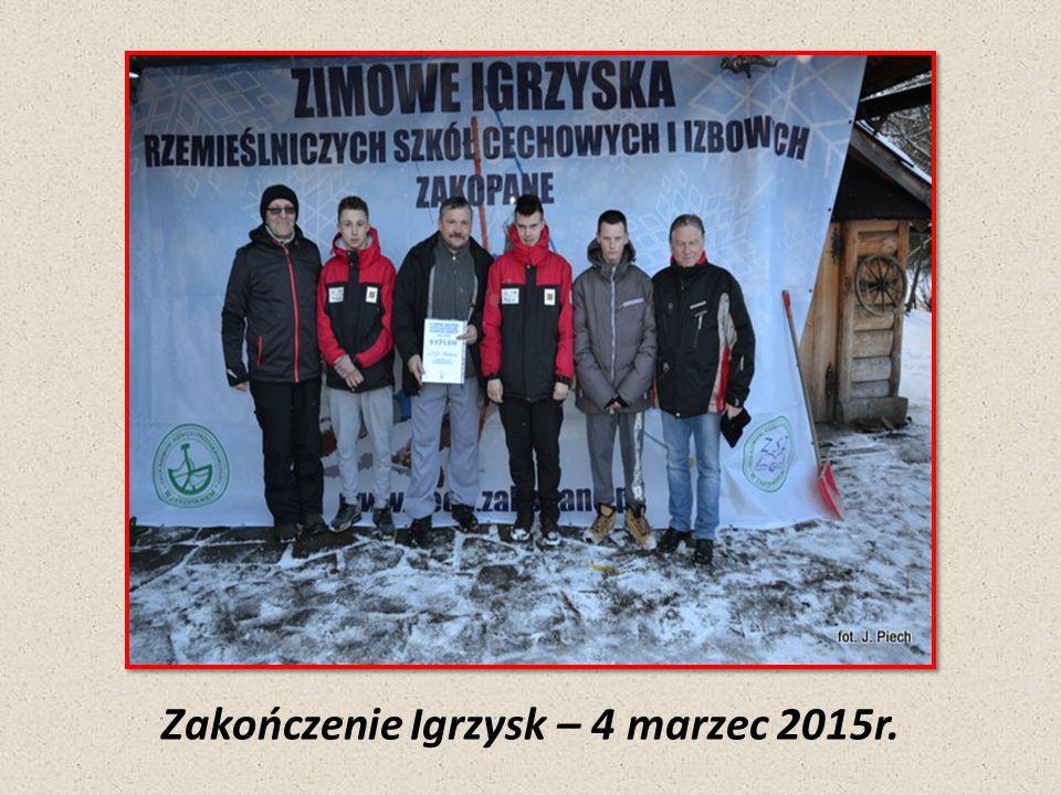 Zakończenie Igrzysk – 4 marzec 2015r.