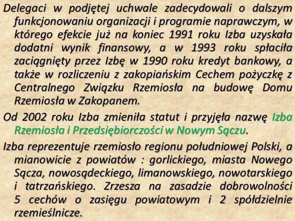 Delegaci w podjętej uchwale zadecydowali o dalszym funkcjonowaniu organizacji i programie naprawczym, w którego efekcie już na koniec 1991 roku Izba u