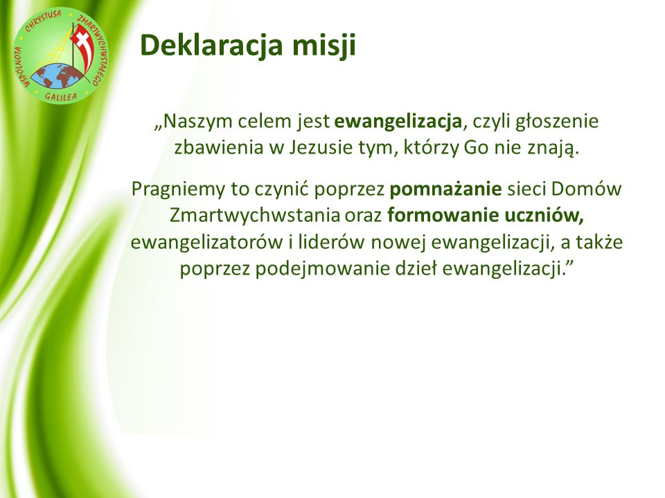 Struktura Wspólnoty Pasterz o.Krzysztof Czerwionka Zarząd Wspólnoty Radny ds.