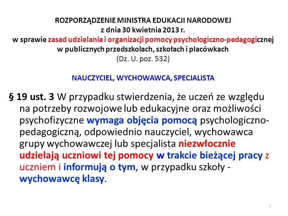 ROZPORZĄDZENIE MINISTRA EDUKACJI NARODOWEJ z dnia 11 października 2013 r.
