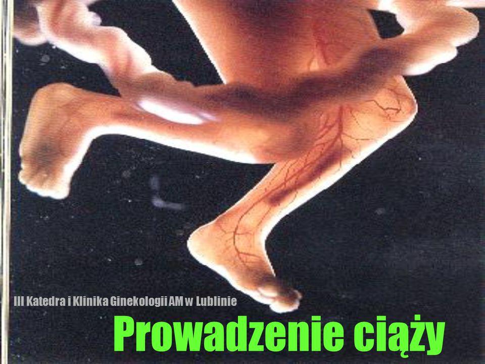 Ciąża podwyższonego ryzyka czynniki ryzyka ze strony matki  pierworódki 30 r.ż.