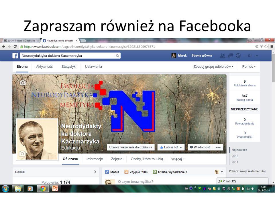 Zapraszam również na Facebooka