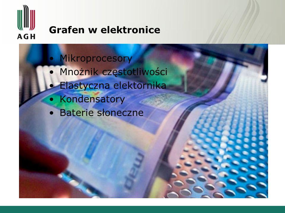 Grafen w elektronice Mikroprocesory Mnożnik częstotliwości Elastyczna elektornika Kondensatory Baterie słoneczne