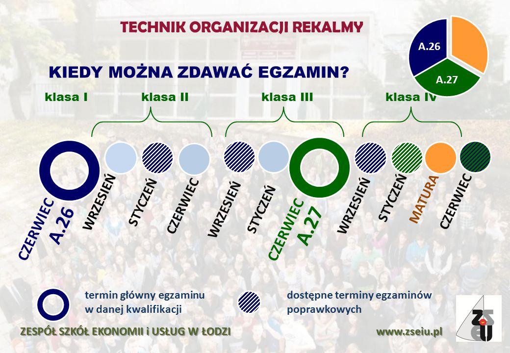 ZESPÓŁ SZKÓŁ EKONOMII i USŁUG W ŁODZI www.zseiu.pl CZERWIEC A.26 WRZESIEŃSTYCZEŃ CZERWIEC WRZESIEŃSTYCZEŃ CZERWIEC A.27 WRZESIEŃSTYCZEŃMATURACZERWIEC