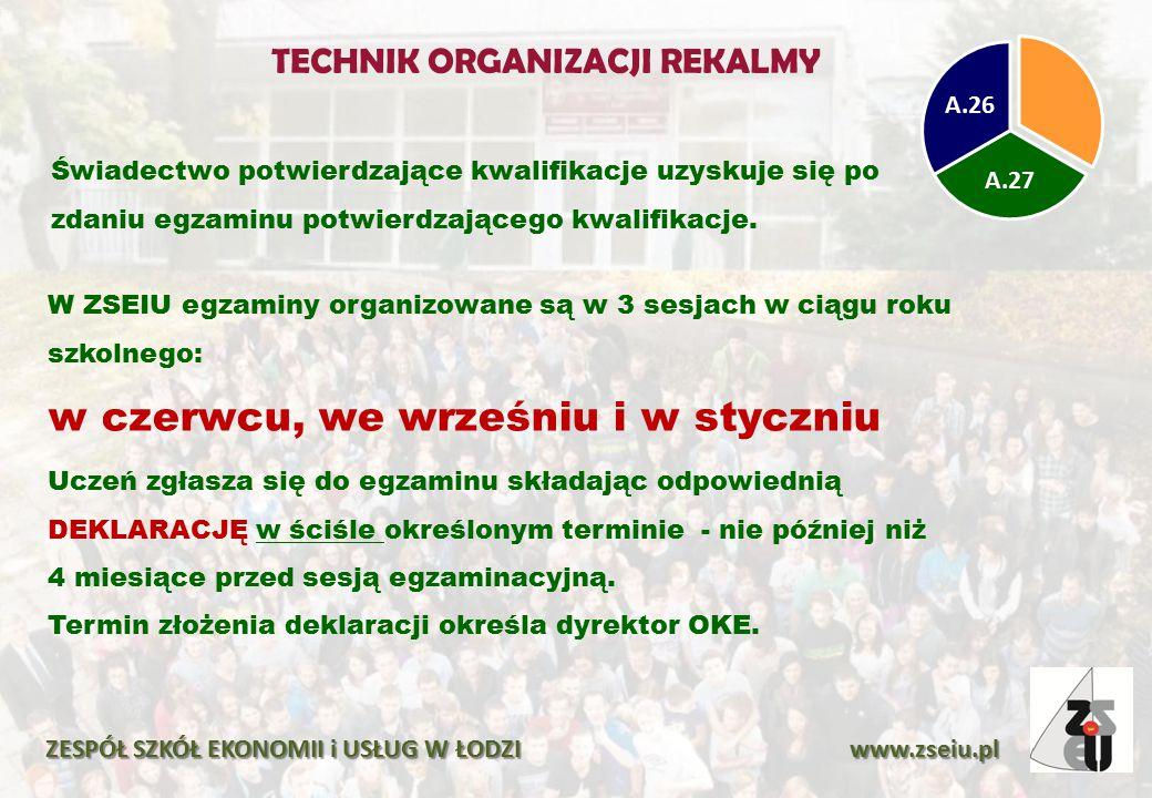 Harmonogram egzaminów w sesji 152 (czerwiec 2015) ZESPÓŁ SZKÓŁ EKONOMII i USŁUG W ŁODZI www.zseiu.pl CZĘŚĆ PRAKTYCZNA : godz.