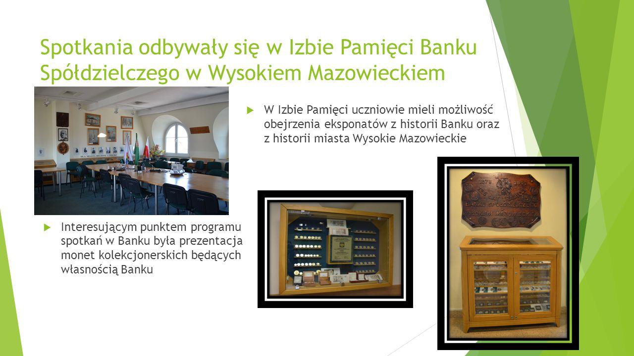 Konkursy organizowane i/lub sponsorowane przez Bank Spółdzielczy w Wysokiem Mazowieckiem 1.