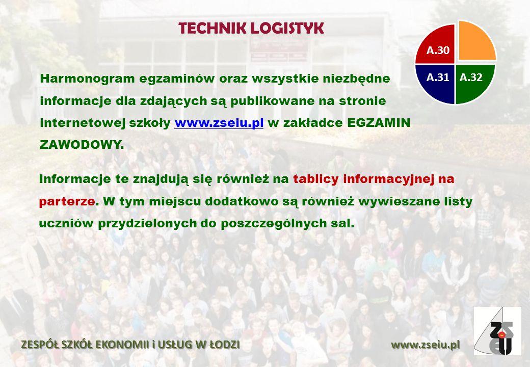 Harmonogram egzaminów oraz wszystkie niezbędne informacje dla zdających są publikowane na stronie internetowej szkoły www.zseiu.pl w zakładce EGZAMIN