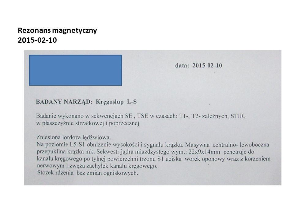 Rezonans magnetyczny 2015-02-10