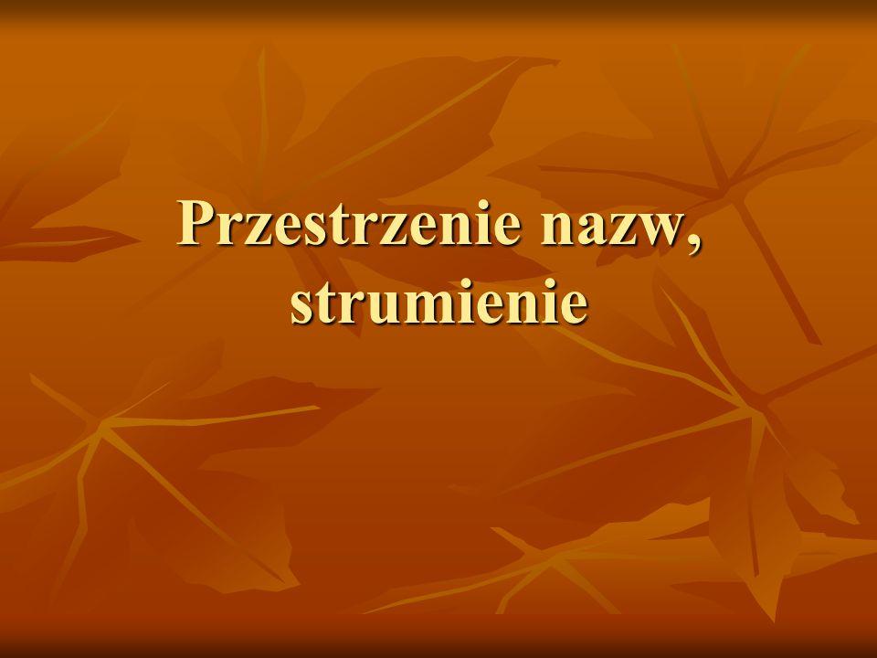 Biblioteka IOStream – szczegóły i/o nieformatowane i/o nieformatowane metody read i readsome – wybrane aspekty metody read i readsome – wybrane aspekty istream& read(char *pc, streamsize cnt) istream& read(char *pc, streamsize cnt) // odczytaj cnt znaków // odczytaj cnt znaków streamsize readsome(char *pc, streamsize cnt) streamsize readsome(char *pc, streamsize cnt) // zwróć liczbę przeczytanych znaków, // zwróć liczbę przeczytanych znaków, // odczytaj nie więcej niż cnt-1 znaków // odczytaj nie więcej niż cnt-1 znaków // pobierz tylko te znaki, które już są w buforze (niedestrukcyjne) // pobierz tylko te znaki, które już są w buforze (niedestrukcyjne)