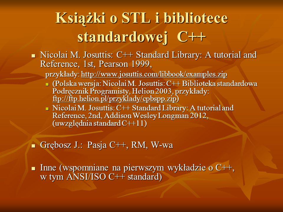 Książki o STL i bibliotece standardowej C++ Nicolai M.