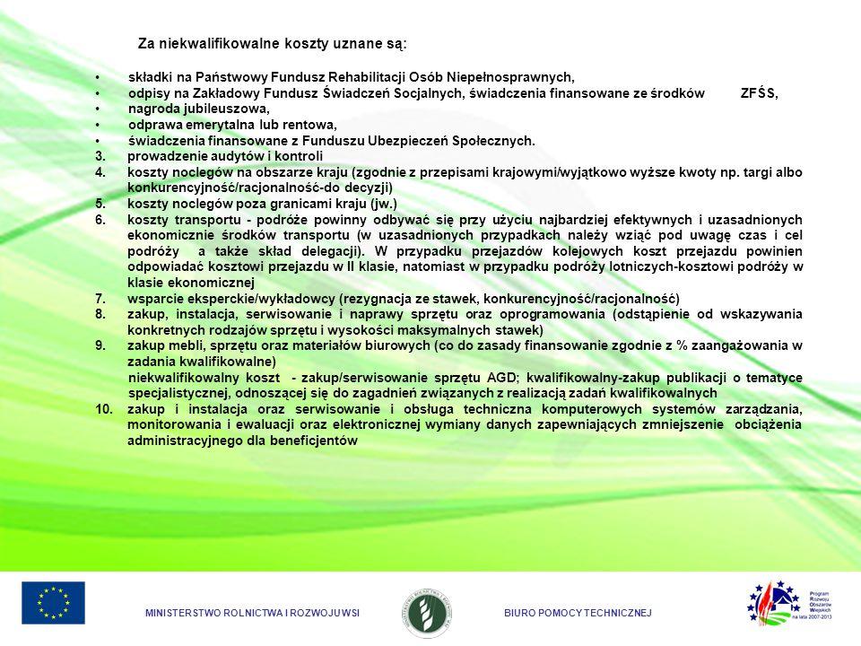 MINISTERSTWO ROLNICTWA I ROZWOJU WSIBIURO POMOCY TECHNICZNEJ 11.