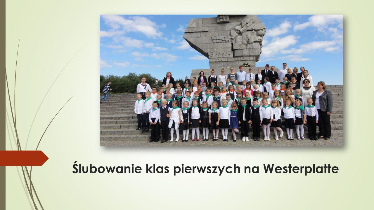 Ślubowanie klas pierwszych na Westerplatte