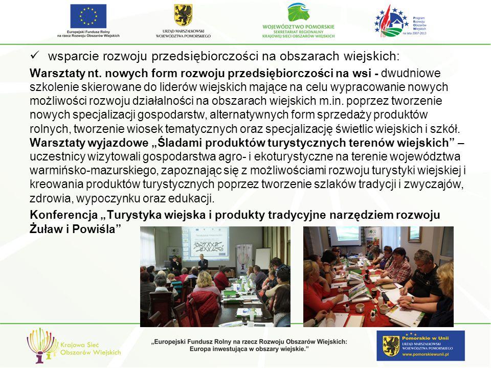 wsparcie rozwoju przedsiębiorczości na obszarach wiejskich: Warsztaty nt.