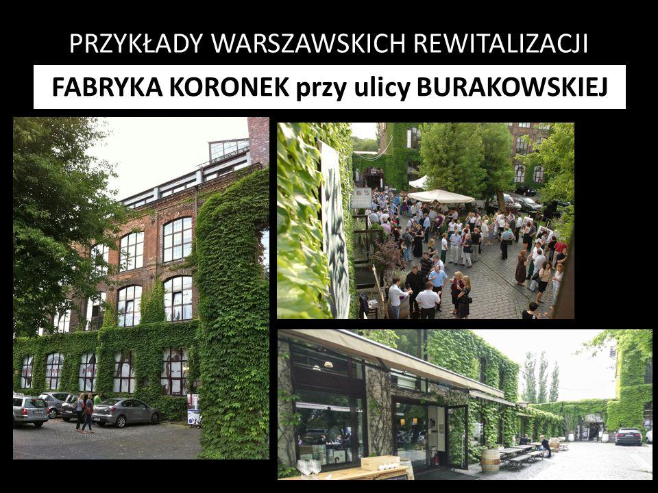PRZYKŁADY WARSZAWSKICH REWITALIZACJI FABRYKA KORONEK przy ulicy BURAKOWSKIEJ
