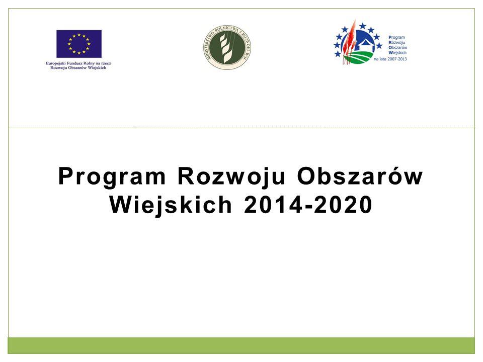 Działania edukacyjno - upowszechnieniowe w Programie Rozwoju Obszarów Wiejskich 2014 - 2020