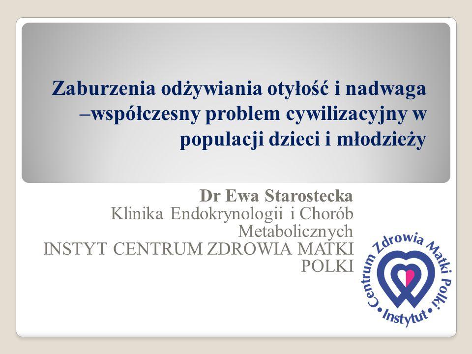 WALKA z OTYŁOŚCIĄ Europejska Karta Walki z Otyłością Narodowy Program Zapobiegania Nadwadze i Otyłości oraz Przewlekłym Chorobom Niezakaźnym Program Poprawy Żywienia i Aktywności Fizycznej w Polsce 2007-2016