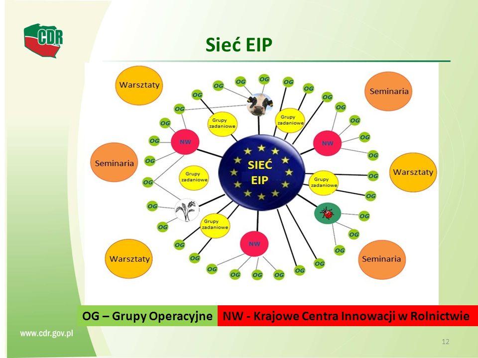 Sieć EIP 12 NW - Krajowe Centra Innowacji w RolnictwieOG – Grupy Operacyjne