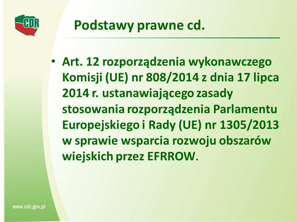 Podstawy prawne cd.Art.